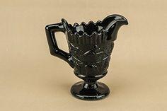 Gothic Victorian Glass Pitcher Black - Idea for gravy or creamer #darkdecor #GothicHome
