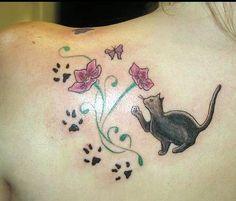 Cute cat tat