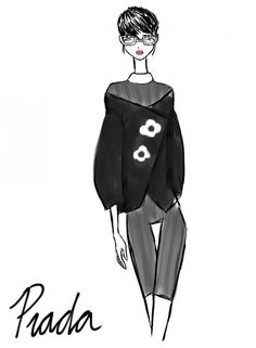 Rei Nadal draws live from the show - Prada @ Milan Womenswear S/S 2013 - SHOWstudio - The Home of Fashion Film