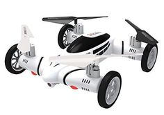 Space Rails Flying Rc Car Quadcopter Drone With Hd Video Camera