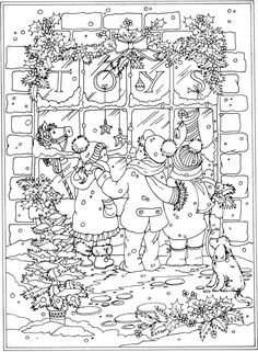 Christmas Around the World Coloring Book by Dover Publications