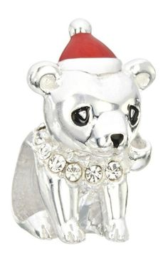 Adorable and stylish by nature, the Chamilia Bear Hug delivers love with a lighthearted sense of humor. Crafted from sterling silver, this Chamilia Bear Hug showcases a red enamel hat. Holiday 2014, Christmas 2014, Christmas Ornaments, Chamilia Jewelry, Best Diamond, Polar Bear, Hug, Swarovski, Charmed