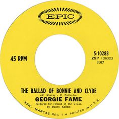 The Ballad Of Bonnie And Clyde - Georgie Fame (1968)