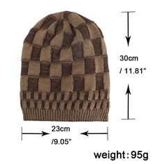 Mens Square Lattice Wool Velvet Knitted Hat Warm Good Elastic Hat Winter Outdoor Casual Beanie is hot sale on Newchic. Square Lattice, Knit Beanie Hat, Winter Colors, Cotton Style, St Kitts And Nevis, Knitted Hats, Velvet, Wool, Knitting