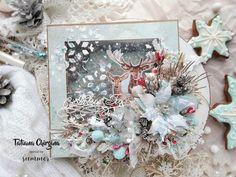 Create Christmas Cards, Christmas Holidays, Christmas Wreaths, Christmas Crafts, Family Holiday, Holiday Decor, Mixed Media Cards, Mixed Media Scrapbooking, Flower Artwork
