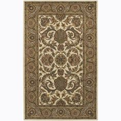 Artist's Loom Hand-tufted Traditional Floral Rug