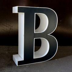Big vintage sign letter - B - for decoration. 1980 - 1985.