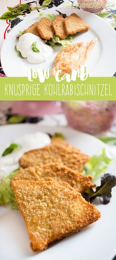 Low Carb knusprig gebratene Kohlrabi - Düşük karbonhidrat yemekleri - Las recetas más prácticas y fáciles Low Carb Köstlichkeiten, Low Carb Lunch, Healthy Low Carb Recipes, Keto Recipes, Vegetarian Recipes, Ovo Vegetarian, Healthy Nutrition, Healthy Eating, Vegetarian