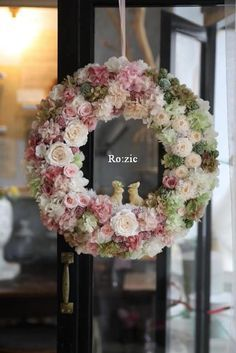 Flower Wreath Funeral, Silk Flower Wreaths, Wreaths And Garlands, Funeral Flowers, Silk Flowers, Dried Flowers, Floral Wreath, Deco Floral, Arte Floral