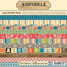 Sasparilla 8X8 Paper Pad by October Afternoon - Two Peas in a Bucket