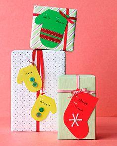 новогодние ярлычки для украшения и декорирования подарка