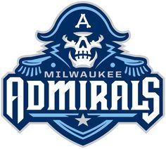 Redesign de Logo do Milwaukee Admirals Time Ice Hockey no Gelo 2