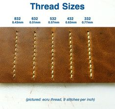 Waxed Linen Thread for Sewing Leather bags MXS: