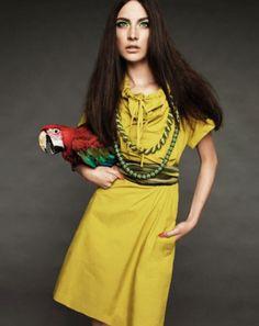 parrot fashion photoshoot
