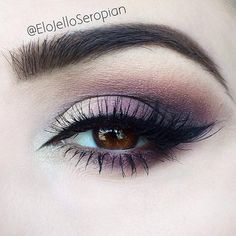 Purple Smokey Eyeshadow for Brown Eyes.