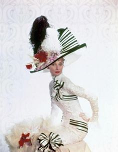 The original outfit for the Ascot scene in My Fair Lady was green and white, not the black and white one as we know it.