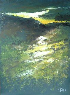 Lama di luce  mixed media 50x70 cm Luigi Torre painter 2016