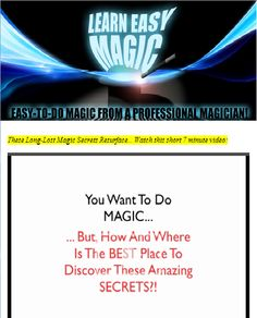 Learn magic. A collection of magic tricks.