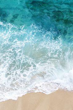 Water, Shore, Sand, Color, White, Foam, Blue, Aqua