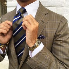 "Viola Milano on Instagram: ""Details by @rickycarlo wearing a Viola Milano ""Handrolled Multi Stripe - Olive / Sea"" silk tie & handrolled silk pocket square... Buy it online today at www.violamilano.com #vm #violamilano #handmade #madeinitaly #luxury #sartorial #gold #style #rolex #kiton #timeless #elegance #classic #menswear"""