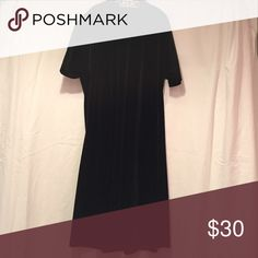 """Vintage Velvet Turtleneck T-shirt Dress Straight from my grandmother's house. I'm 5'2"""" and it goes to my knees. Tag says Medium, but as long as you can fit your head through the neck hole, it'll fit just about any size; it's virtually shapeless. Dresses"""