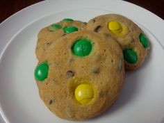 Green and gold m & m cookies. Perfect for tailgating at USF games!