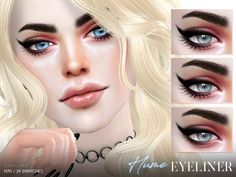 Super long eyeliner in 24 different styles.  Found in TSR Category 'Sims 4 Female Eyeliner'