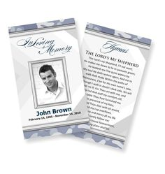 Best Prayer Cards And Templates Images On Pinterest Prayer - Funeral prayer cards templates