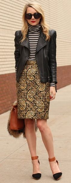 mixed prints street style ♥✤ | Keep the Glamour | BeStayBeautiful