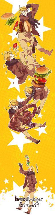 America and his hamburgers!