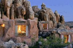 cave living in the cedar berg mountains, south africa