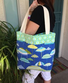 Reversible tote Tote bag Beach tote Large tote by SweetMagnoleah, $25.00