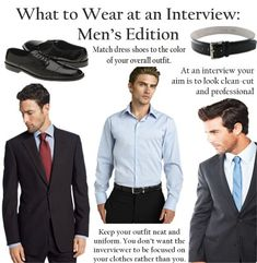 Interview attire for men.