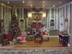 Merry Christmas Dollhouse....love the little lights in the ceiling!!