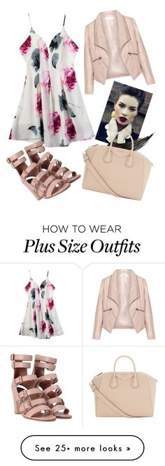 """""""Pink day to night"""" by elisel1997 on Polyvore featuring Zizzi, Laurence Dacade and Givenchy"""