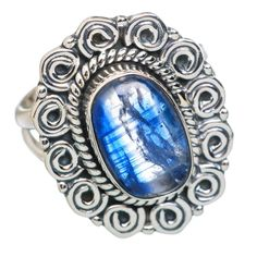Rare Kyanite 925 Sterling Silver Ring Size 6.5 RING768201