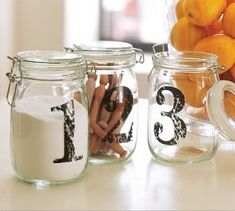 How cute would these be as a center piece with flowers and table number for a wedding! Love O'Connor's idea!