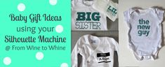 baby gift ideas using your Silhouette Machine