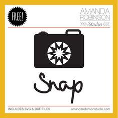 Free 'Snap' cutting file   from Amanda Robinson Studio #Silhouette #CutFile