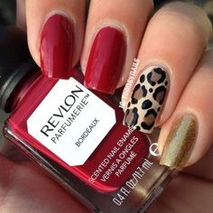 Cute Nail Designs For Spring – Your Beautiful Nails Great Nails, Fabulous Nails, Simple Nails, Love Nails, How To Do Nails, My Nails, Leopard Nails, Red Leopard, Nagel Gel
