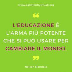 Frase di Mandela sull'educazione
