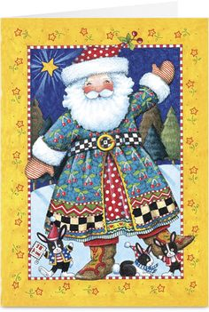 Mary Engelbreit - love her Santas!