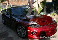 Dodge Viper GTS crashed