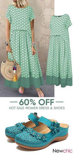 Wonderful Images Sewing ideas for ladies Concepts women fashion dress & shoes. Bohemian Mode, Boho, Women's Fashion Dresses, Fashion Shoes, Woman Dresses, Mode Outfits, Elegant Dresses, Beautiful Outfits, Plus Size Fashion