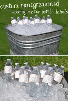 Outdoor weddings are fun with lots of activities to plan for your wedding reception entertainment. With hot summer days and fun wedding activities comes thirsty guests. Keep everyone's thirst quenched (Large Water Bottle) Custom Water Bottles, Water Bottle Labels, Fun Wedding Activities, Wedding Reception Food, Wedding Ideas, Wedding Crafts, Wedding Decor, Wedding Inspiration, Monogram Water Bottle