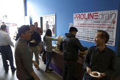 Delicious food was enjoyed by all at the Quick Drain / Excel Plumbing Supply event for San Francisco's contractors, designers and architects.