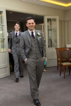 Suits! Pick & pick grey three piece suits from Goddards
