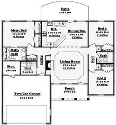 Indecipherable Open Floor Plan House Plans Without Legend And ...