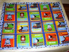 Thomas The Train Pillowcase Thomas The Train Fabric  Gordon Henry James Bertie Harold Toby