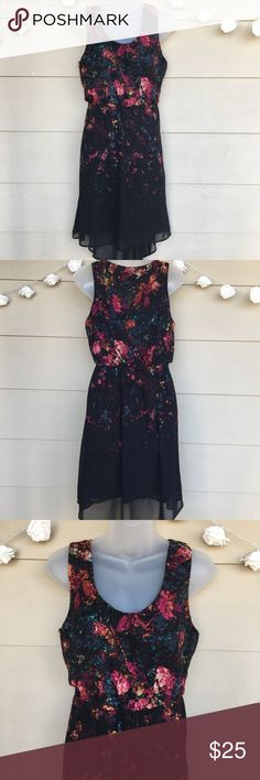 Mossimo • Black High Low Colorful Splatter Dress Mossimo • Black High Low Colorful Abstract Splatter Dress   —Size = Medium —In Excellent Pre-Owned Condition —This dress is so pretty! Hard for me to sell, but need to make room. Abstract colorful splatter print fading down the black background. Sheer overlay with black lining underneath. Elastic waistband for extra room. Very comfy & cute.  --100% Polyester  ?? Questions ?? — Please ask! :)  •Offers & counteroffers always welcome.  •All…